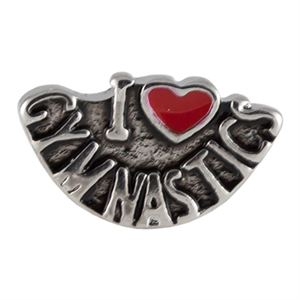 "Picture of ""I Love Gymnastics"" Charm"